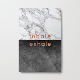 Inhale Exhale, Yoga Quote Metal Print
