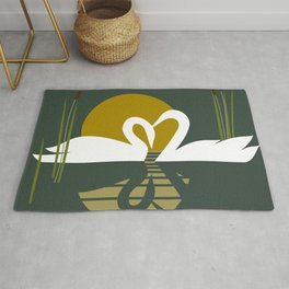Swans at Sunset Rug