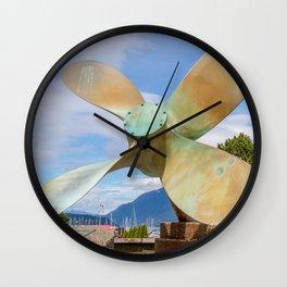 Propeller Fountain Wall Clock