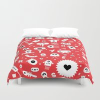 monsters Duvet Covers featuring Monsters by Vickn