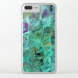 Morning Song Turquoise Geode Clear iPhone Case