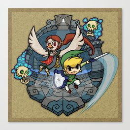 Legend of Zelda Wind Waker Earth Temple T-Shirt Canvas Print