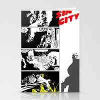 sin city Stationery Cards featuring Sin City by FYeahMelissa