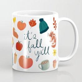 Fall Ya'll, Fall Collage, Autumn, Mushrooms, Pumpkin Pie, Coffee Mug, Scarf, Comfy, It's Fall Ya'll Coffee Mug