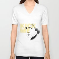 quibe V-neck T-shirts featuring Now try again! by quibe