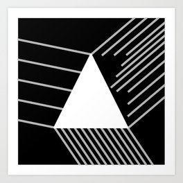 Abstraction 030 - Minimal Geometric Triangle Art Print