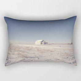 Winter, Galpin Church, Montana 3 Rectangular Pillow