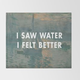 I Saw Water x French Sunrise Throw Blanket