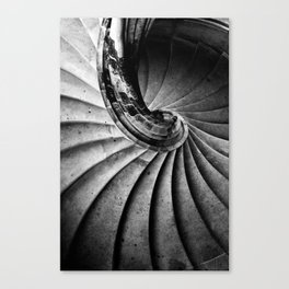 Sand stone spiral staircase Canvas Print