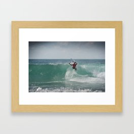 Legend & Pro Surfer Kelly Slater, France, 2013 Framed Art Print