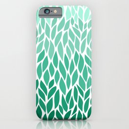 Green Ombre Leaves iPhone Case