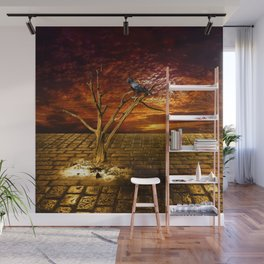 Einsamer Rabe - Lonely raven Wall Mural