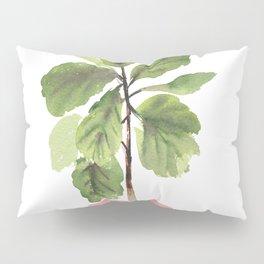 Fiddle-Leaf Fig (Watercolor) Pillow Sham