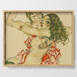 "Egon Schiele ""Two Women Embracing"" Serving Tray"