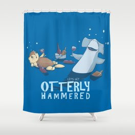 Otterly Hammered Shower Curtain