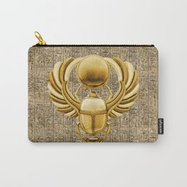 Gold Egyptian Scarab Carry-All Pouch