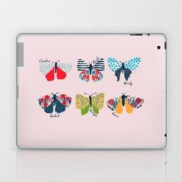 Funny butterflies illustration Laptop & iPad Skin