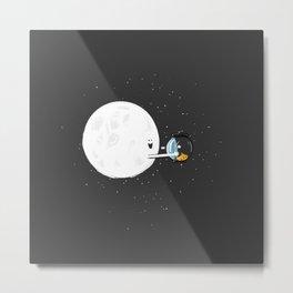 The Moon and its Fish Metal Print
