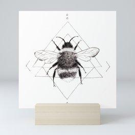 Minimalist Bee in the Garden Mini Art Print