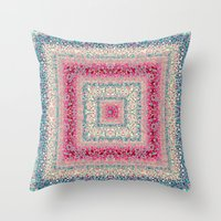 square Throw Pillows featuring Square by Truly Juel