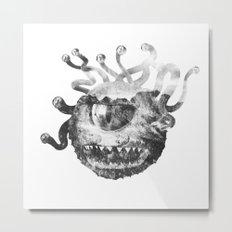Beholder (Black & White) Metal Print