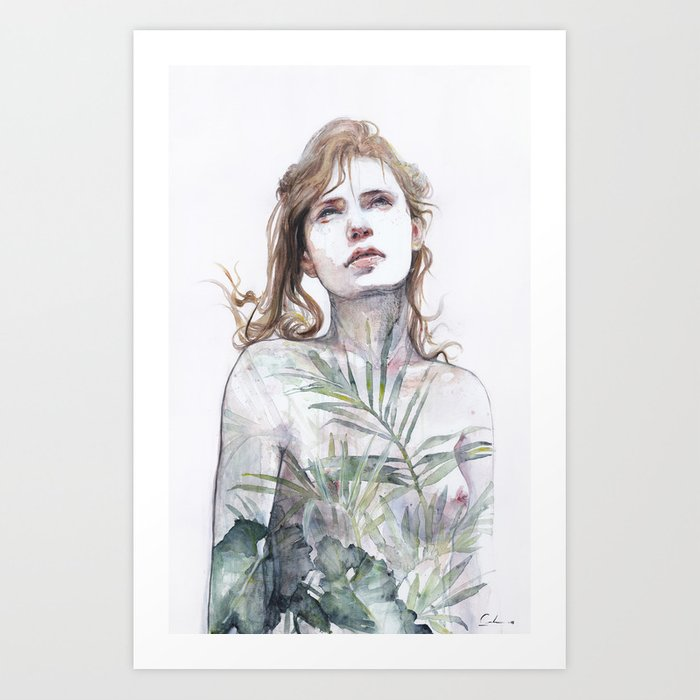 Discover the motif BREATHE IN, BREATHE OUT by Agnes Cecile as a print at TOPPOSTER