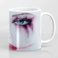 harley Mugs featuring Harley Quinn by Halinka H