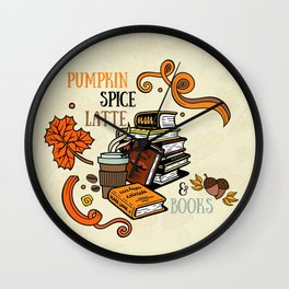 PSL & Books Wall Clock