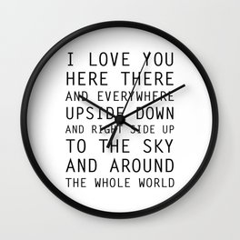 I Love You Everywhere Wall Clock