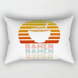 Ramen Life Japanese Noodles Vintage Retro Style Gift Rectangular Pillow