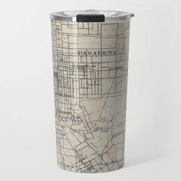 Vintage Map of Pasadena California (1894) Travel Mug