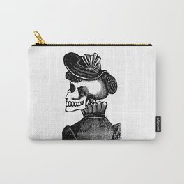 Calavera Woman | Skeleton Woman | Day of the Dead | Dia de los Muertos | Skulls and Skeletons | Vintage Skeletons | Posada | Carry-All Pouch