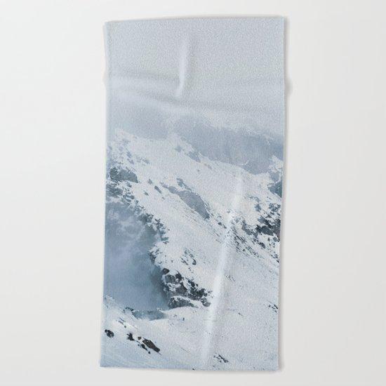 Old Mountain - Minimalist Landscape Photography Beach Towel