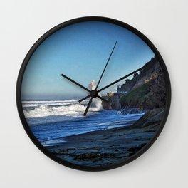 Waves, Oceanside, California Wall Clock