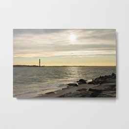 Sunset and the Lighthouse Metal Print
