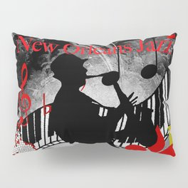 New Orleans Jazz Saxophone And Piano Music Pillow Sham