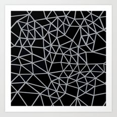 Segment Grey and Black Art Print