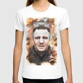 Liam Neeson Caricature T-shirt
