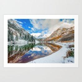 Natures Divine Canvas - Maroon Bells Aspen Colorado Art Print