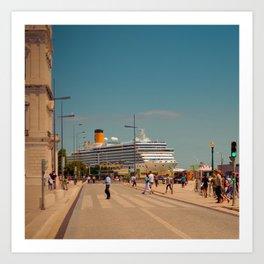 City boat Lisbon Art Print
