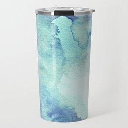 Watercolor pattern turquoise Travel Mug
