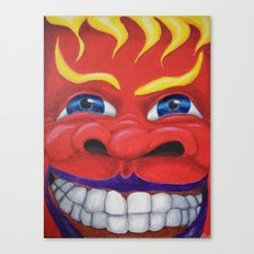 Red Face. Canvas Print