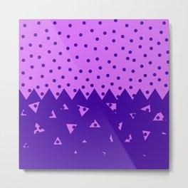 Triangle and  Circles Metal Print
