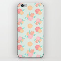 Pastel floral iPhone & iPod Skin