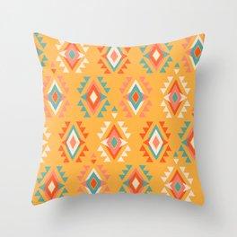 Southwest Geo Yellow Throw Pillow
