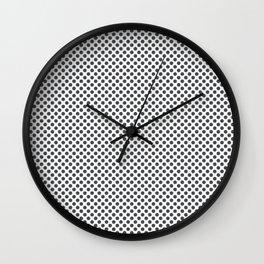 Dark Shadow Polka Dots Wall Clock