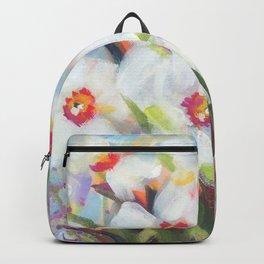 Little White Daffodils Backpack