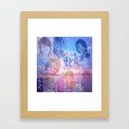 Bubbly Tego Framed Art Print