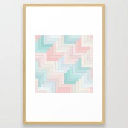 Pastel Chevron Pattern Framed Art Print
