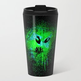 Space face Green Travel Mug